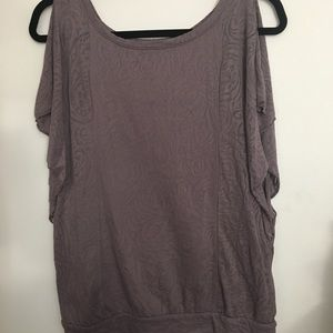 NWOT Muted purple tank with frill